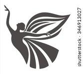 butterfly girl | Shutterstock .eps vector #346913027