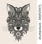 abstract fox patterns | Shutterstock .eps vector #346925471