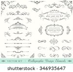 Stock vector vintage ornate frames decorative ornaments flourish and scroll elements 346935647