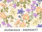 vintage floral seamless... | Shutterstock .eps vector #346943477