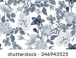 vintage floral seamless... | Shutterstock .eps vector #346943525