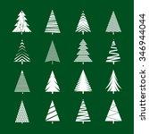 set of white geometric... | Shutterstock .eps vector #346944044