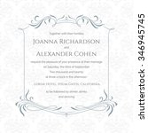 classical invitation and... | Shutterstock .eps vector #346945745