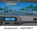 head up display hud  and... | Shutterstock .eps vector #346945877