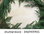 christmas hard wood space... | Shutterstock . vector #346945901