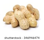 peanuts on white background | Shutterstock . vector #346946474