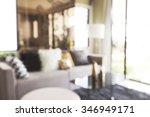 blur image of modern living... | Shutterstock . vector #346949171