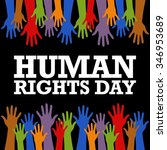 human rights day poster... | Shutterstock .eps vector #346953689