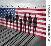 american immigration and united ...   Shutterstock . vector #346954079