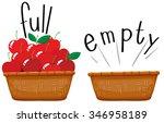 empty basket and basket full of ... | Shutterstock .eps vector #346958189