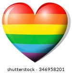 Heart Shape In Rainbow Color...