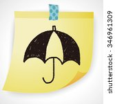 umbrella doodle drawing | Shutterstock . vector #346961309