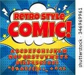 comic retro alphabet set. red... | Shutterstock .eps vector #346969961