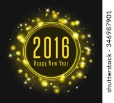 happy new year poster 2016 text ... | Shutterstock .eps vector #346987901