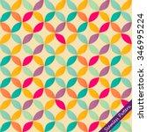 vintage geometric circle retro... | Shutterstock .eps vector #346995224