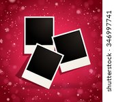 photo frames on a red sparkling ...   Shutterstock .eps vector #346997741