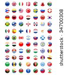 national flags around the world | Shutterstock . vector #34700308