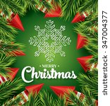 christmas card with white... | Shutterstock . vector #347004377
