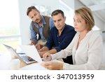 financial department people... | Shutterstock . vector #347013959