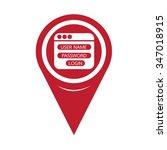 map pin pointer website login... | Shutterstock .eps vector #347018915