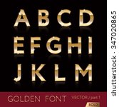 golden alphabetic fonts and... | Shutterstock .eps vector #347020865