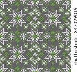 norwegian seamless pattern.... | Shutterstock .eps vector #347029019