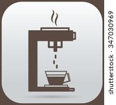 the coffee maker is dripping... | Shutterstock .eps vector #347030969