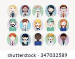 medical people vector... | Shutterstock .eps vector #347032589