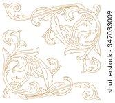 premium gold vintage baroque... | Shutterstock .eps vector #347033009