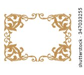 premium gold vintage baroque... | Shutterstock .eps vector #347033255