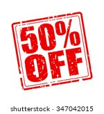 50  off red stamp text on white | Shutterstock .eps vector #347042015