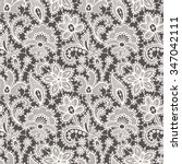 lace. seamless pattern. | Shutterstock .eps vector #347042111