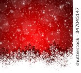 red christmas background with... | Shutterstock . vector #347045147