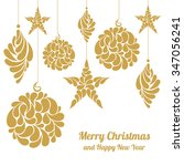christmas decorations star  a... | Shutterstock .eps vector #347056241