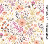 seamless vector floral pattern  ... | Shutterstock .eps vector #347060351