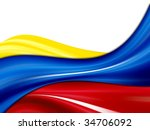 Colombia Waves Flag  Yellow ...