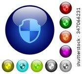 set of color shield glass web...