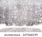 empty concrete when snowing and ... | Shutterstock . vector #347068199