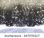 empty black space when snowing...   Shutterstock . vector #347070317
