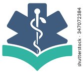 medical knowledge vector icon....   Shutterstock .eps vector #347072384