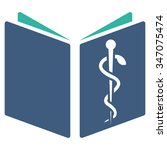 drug handbook vector icon.... | Shutterstock .eps vector #347075474
