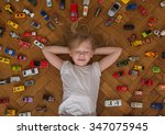 Girl And Toy Car