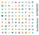 gardening 100 icons set for web ... | Shutterstock . vector #347089559