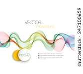 vector abstract smoky waves ... | Shutterstock .eps vector #347100659