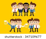 friends and friendly relation... | Shutterstock .eps vector #347109677