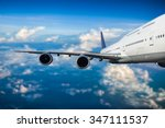 airplane in the sky | Shutterstock . vector #347111537