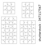 set of white puzzles  vector | Shutterstock .eps vector #347117567