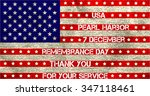 pearl harbor. remembrance day.... | Shutterstock .eps vector #347118461