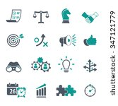 strategy and business icon set | Shutterstock .eps vector #347121779