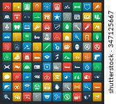 security 100 icons set for web... | Shutterstock . vector #347125667